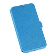 For Samsung Galaxy S4 I9500 Card Holder Leather Stand Cover - Blue