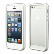 Stylish Plastic & TPU Bumper Frame Case for iPhone 5 5s - White