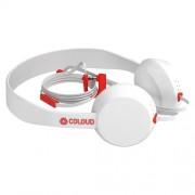 Headphone Coloud Knock Blocks Στερεοφωνικά Ακουστικά με Μικρόφωνο - Λευκό/Κόκκινο
