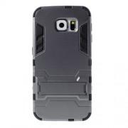 Σκληρή Θήκη σε Συνδυασμό με Σιλικόνη TPU με Βάση Στήριξης για Samsung Galaxy S6 G920 - Γκρι