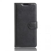 Δερμάτινη Θήκη Πορτοφόλι με Βάση Στήριξης για Sony Xperia XA / XA Dual - Μαύρο