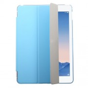 Blue Tri-fold Single Front Leather Smart Cover + Back Plastic Shell for iPad Air 2