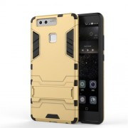 Cool Design Plastic + TPU Hybrid Cover for Huawei P9 - Gold