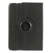 Περιστρεφόμενη Δερμάτινη Θήκη Βιβλίο με Βάση Στήριξης για Samsung Galaxy Tab 4 10.1 T530 T531 T535 - Μαύρο