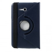 Περιστρεφόμενη Δερμάτινη Θήκη Βιβλίο με Βάση Στήριξης για Samsung Galaxy Tab 3 7.0 Lite T110 T111 - Σκούρο μπλε