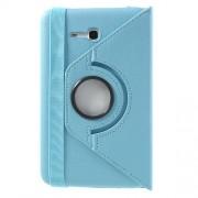 Περιστρεφόμενη Δερμάτινη Θήκη Βιβλίο με Βάση Στήριξης για Samsung Galaxy Tab 3 7.0 Lite T110 T111 - Γαλάζιο