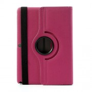 360 Rotary Litchi Leather Case w/ Stand for Samsung Galaxy Note 10.1 (2014 Edition) SM-P600 - Rose