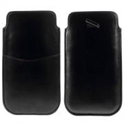 Δερμάτινη Θήκη Πουγκί για iPhone 6 Plus / 6s Plus - Μαύρο