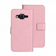 Pink Lychee Leather Wallet Stand Case for Samsung Galaxy Express II G3815