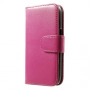 For Samsung Galaxy Ace NXT G313H Lychee Leather Folio Wallet Case - Rose