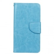 Crazy Horse Leather Wallet Case for Samsung Galaxy A5 SM-A510F (2016) - Blue