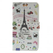 Eiffel Tower for LG L Fino D295 Dual SIM Leather Wallet Case w/ Stand