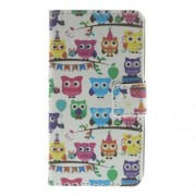 Multiple Owls for LG L Fino D295 Dual SIM Leather Wallet Case w/ Stand