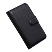 Black Lychee Leather Stand Case Wallet for Alcatel One Touch Pop C3 4033A 4033X 4033D 4033E