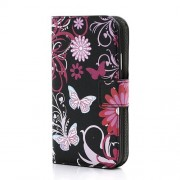 Butterfly Flower Card Slots Leather Stand Case for Samsung Galaxy Grand I9080 I9082 / Neo i9060 i9062