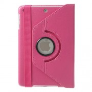 For iPad Mini / iPad Mini 2 360 Rotary Stand Lychee Smart Leather Shield Cover - Rose