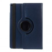 360 Degree Rotary Stand for iPad Air 2 Litchi Grain Leather Shell - Dark Blue