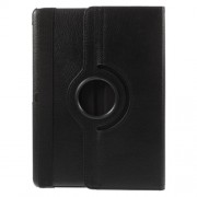 Rotary Stand Litchi Grain Smart Leather Cover for Samsung Galaxy Tab S 10.5 T800 T805 - Black