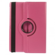 Litchi Grain Smart Leather Case with Rotary Stand for Samsung Galaxy Tab S 10.5 T800 - Rose