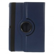 Litchi Grain for Samsung Galaxy Tab S 10.5 T800 Smart Leather Rotary Stand Case - Dark Blue