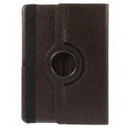 Litchi Grain for Samsung Galaxy Tab S 10.5 T805 Smart Leather Rotary Stand Cover - Coffee