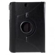 Περιστρεφόμενη Δερμάτινη Θήκη Βιβλίο με Βάση Στήριξης για Samsung Galaxy Tab A 9.7 T550 T555 - Μαύρο
