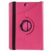 Περιστρεφόμενη Δερμάτινη Θήκη Βιβλίο με Βάση Στήριξης για Samsung Galaxy Tab A 9.7 T550 T555 - Φούξια