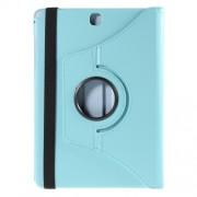 Περιστρεφόμενη Δερμάτινη Θήκη Βιβλίο με Βάση Στήριξης για Samsung Galaxy Tab A 9.7 T550 T555 - Γαλάζιο