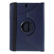 Περιστρεφόμενη Δερμάτινη Θήκη Βιβλίο με Βάση Στήριξης για Samsung Galaxy Tab A 9.7 T550 T555 - Μπλε
