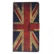 Δερμάτινη Θήκη Πορτοφόλι με Βάση Στήριξης για Sony Xperia M4 Aqua / M4 Aqua Dual - Ηνωμένο Βασίλειο