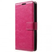 Crazy Horse Leather Magnetic Cover w/ Stand for LG G3 S D722 D725 - Rose