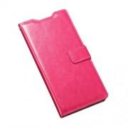 Δερμάτινη Θήκη Πορτοφόλι με Βάση Στήριξης για Sony Xperia M5 E5603 / M5 Dual E5633 - Φούξια