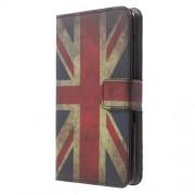 Δερμάτινη Θήκη Πορτοφόλι με Βάση Στήριξης για Sony Xperia E4 - Ηνωμένο Βασίλειο