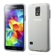 White Double-sided Frosted TPU Skin Case for Samsung Galaxy S5 G900 G900A G900T