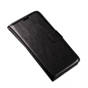 Crazy Horse Wallet Leather Phone Cover for Microsoft Lumia 950 - Black