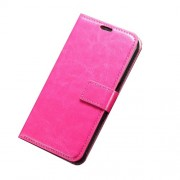 Crazy Horse Wallet Leather Cover with Stand for Samsung Galaxy S6 - Rose
