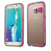 Incoming Call Blink PC + TPU Hybrid Case for Samsung Galaxy S6 Edge G925 - Rose