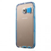 Incoming Call Flash PC + TPU Cover for Samsung Galaxy S6 Edge G925 - Baby Blue