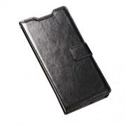 Δερμάτινη Θήκη Πορτοφόλι με Βάση Στήριξης για Sony Xperia Z5 / Z5 Dual - Μαύρο