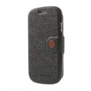 MLT Δερμάτινη Θήκη Πορτοφόλι με Βάση Στήριξης για Samsung Galaxy S3 Mini I8190 - Μαύρο