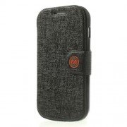 MLT Δερμάτινη Θήκη Πορτοφόλι με Βάση Στήριξης για Samsung Galaxy S Duos S7562 / S7560M / S7560 / S7580 / S7582 - Μαύρο