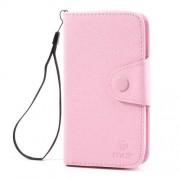 MLT Δερμάτινη Θήκη Πορτοφόλι για Samsung Galaxy S3 I9300 - Ροζ