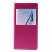 Δερμάτινη Θήκη Βιβλίο Smart Cover για Samsung Galaxy S6 G920 - Φούξια