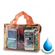 Waterproof Bag for Smartphones 19x26cm - Orange