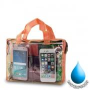 Αδιάβροχη Τσάντα  για Κινητά Διαστάσεις: 19x26cm - Πορτοκαλί