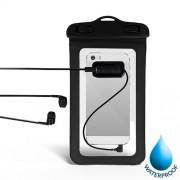 Αδιάβροχη Θήκη με Υποδοχή για Ακουστικά για Κινητά 4,5 με 5,0 ίντσες Διαστάσεις: 162x100mm - Μαύρο