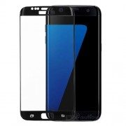 Full Size Plated Tempered Glass Screen Guard for Samsung Galaxy S7 edge G935 (Japan Glass Asashi) - Black