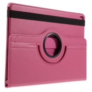 Litchi Texture Leather Flip Case Rotary Stand Cover for iPad Pro 9.7-inch - Rose