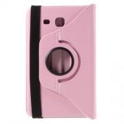 Περιστρεφόμενη Δερμάτινη Θήκη Βιβλίο με Βάση Στήριξης για Samsung Galaxy Tab A 7.0 T280 T285 - Ροζ