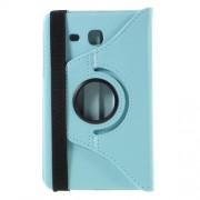 Περιστρεφόμενη Δερμάτινη Θήκη Βιβλίο με Βάση Στήριξης για Samsung Galaxy Tab A 7.0 T280 T285 - Μπλε
